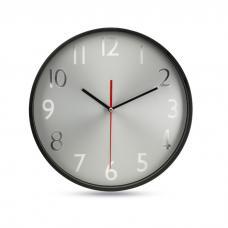 Relógio parede esfera prateada