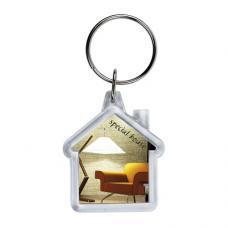 Porta-chaves acrílico casa 2 faces