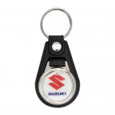 Porta-chaves de metal com ficha € 1,00 para carrinho