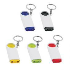 Porta-chaves de plástico com luz e ficha € 1,00 para carrinho