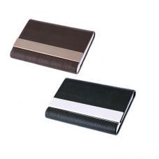 Porta-cartões em PU e metal